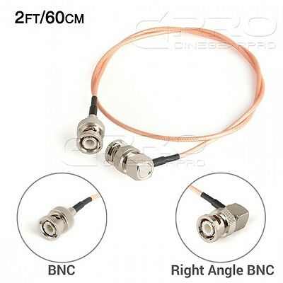 CGPro Ultra Thin Right Angled BNC to BNC HD-SDI 3G-SDI Cable (2FT/60CM) UK!