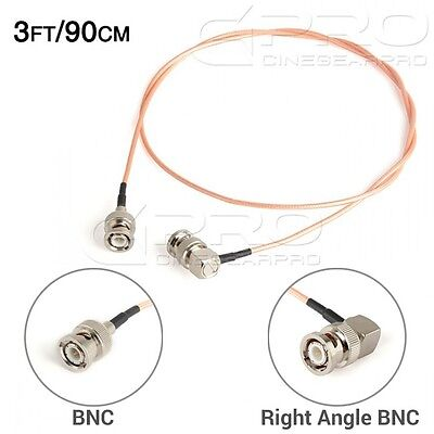 CGPro Ultra Thin Right Angled BNC to BNC HD-SDI 3G-SDI Cable(3FT/90CM) UK!
