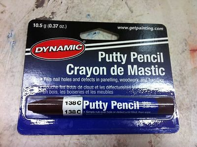 Dynamic PUTTY PENCIL DARK MAHOGANY FILL 138C PA10138C painting supplies filler