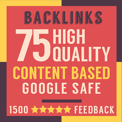 75 PREMIUM High Quality ONLY MANUALLY Created Backlinks