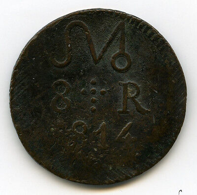 War For Independence 8 Reales 1814 OAX VF KM241 19076