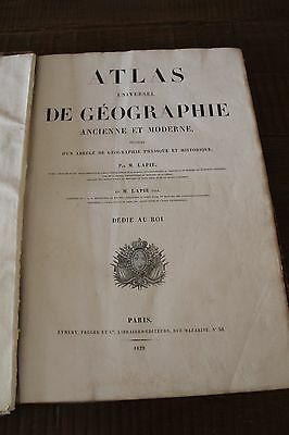 COMPLETE and RARE, 1829 FRENCH ATLAS - by Pierre Lapie - Universel de Geographie