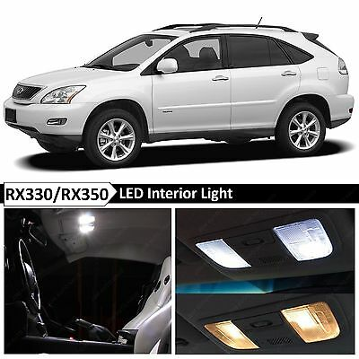 20Pcs White Interior LED Light Package Kit For 2004-2009 Lexus RX330 RX350 MP