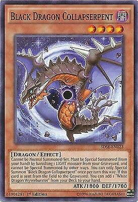 3 x Black Dragon Collapserpent (SDSE-EN023) - Common - Near Mint - 1st Edition