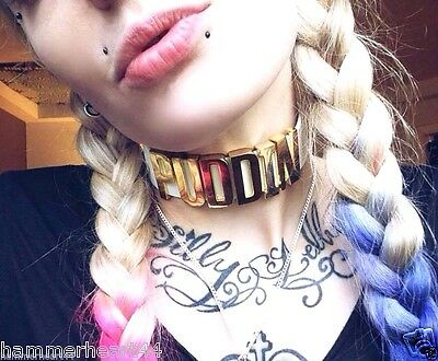 Harley Quinn CHOKER Suicide Squad Inspired Neck Collar Puddin Necklace