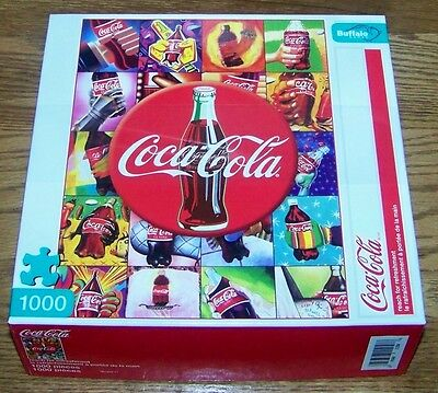 NIB 2011 USA COCA-COLA 1000 pc JIGSAW PUZZLE - BOTTLE in HAND ART -BUFFALO GAMES