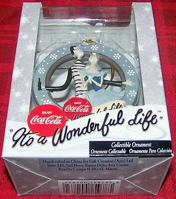 "Nos 2010 2.5"" Coca-Cola ""it's A Wonderful Life"" Handcrafted Resin Ornament"
