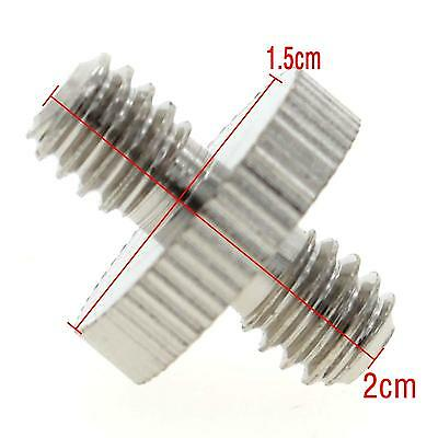 New 1/4'' to 1/4'' Male Threaded Adapter Screw for Camera Tripod Monopod Support