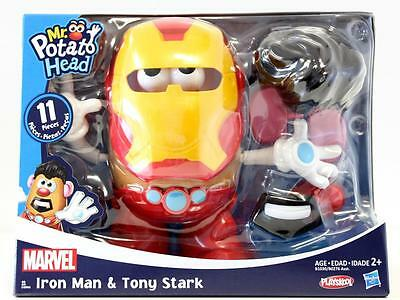 NEW Playskool Mr Potato Head Marvel Iron Man & Tony Stark 11 pc Set