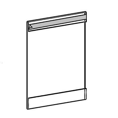 "SET OF 6 HANGING POSTER HOLDERS SLEEVES A4 11.8"" x 8.3"" WITH DOUBLE SIDED TAPE"