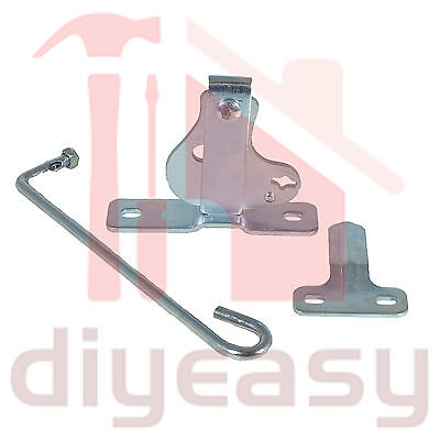 D-Latch Striker Gate Zinc Plated