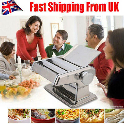 3 In 1 Hand Operated Pasta Lasagne Spaghetti Tagliatelle Maker Machine Cutter UK
