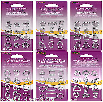 Sculpey Mini Metal Cutter 12Pc Sets For Fimo Clay Pastry Cake Icing Sugarcraft