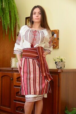 Ukrainian embroidered traditional long skirt for ladies, vyshyvanka, 4 models
