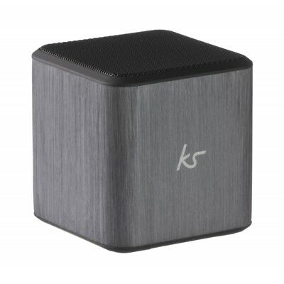 KitSound Cube Wired Universal Portable Speaker - Silver