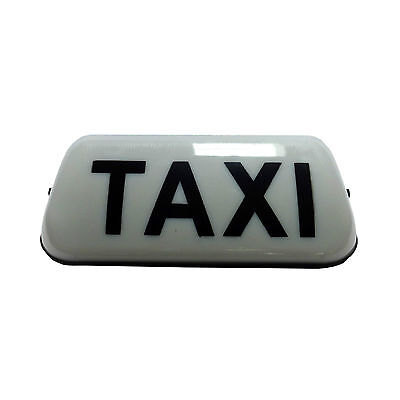 """TAXI ROOF SIGN WHITE 18/"""" LED/'S AERODYNAMIC TAXIMETER TOPSIGN * NEW DESIGN"""