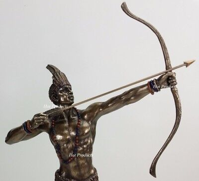 ORISHA Ochosi Oshosi Oxosi God of Hunting Yoruba African Statue Bronze Color