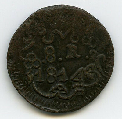 War For Independence 8 Reales 1814 OAX XF+ KM234 26098
