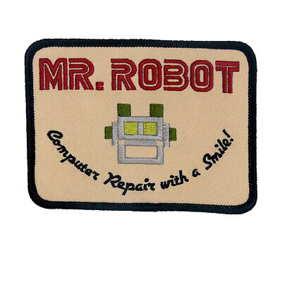 Mr Robot Series Patch | Iron On/Sew On Halloween | US Seller - FREE Shipping