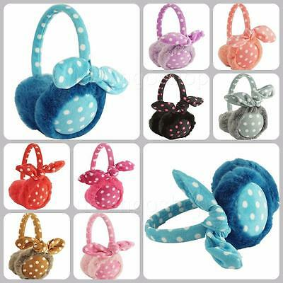 New Cute Winter Polka Dot Ear Warmer Ear Muffs Earlap Earband Adjustable Em52014