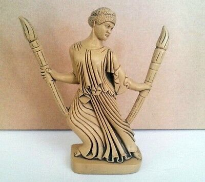 Hecate at the Crossroads with Torches Triple Goddess Pagan Statue #HCT