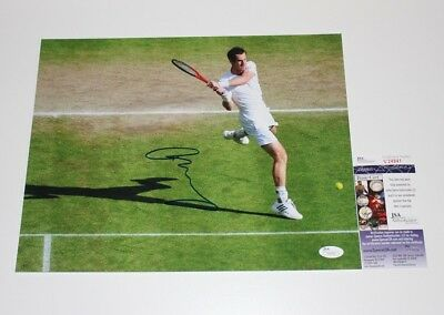 Andy Murray Hand Signed Authentic 11X14 Photo D Jsa Coa 2013 Wimbledon Champ