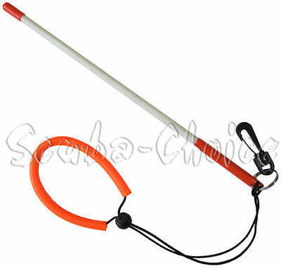 "Scuba Diving 13-3/4"" Fiber Glass Lobster Tickle Pointer Stick w/ Clip & Lanyard"