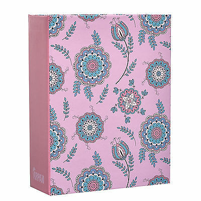 Arpan 6x4'' Small Shabby Chic Pink Floral Photo Album Case for 100 Photos AL9137