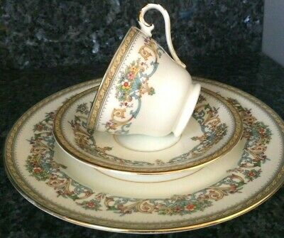Beautiful Vintage Aynsley Henley Cup and Saucer, Desert Trio Set