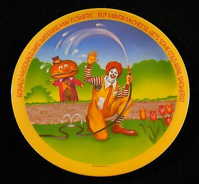McDonalds Collectible Plate Mayor McCheese 1977 Flowers Water Hose Ronald GC