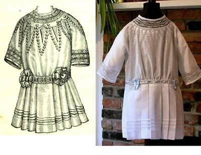 Sewing Pattern for Lovely 1912 Edwardian Embroidered Baby Girl's Dress ~ Age 1-3
