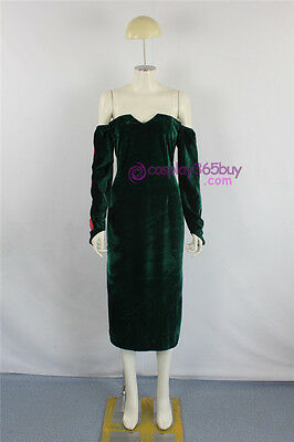 FullMetal Alchemist Lust Cosplay Costume dark green velvet made