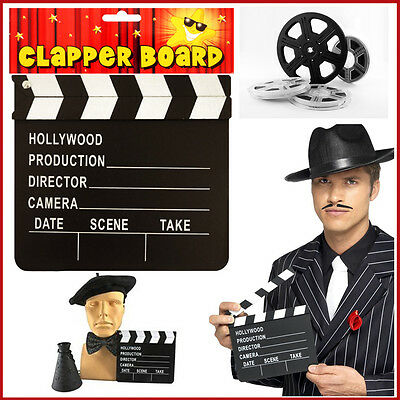 Professional Clapper Board Production Director Camera Action Wooden Clapperboard