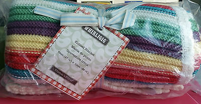 Mamas and & Papas Blanket Whirligig Knitted 70x90cm 100Cotton Baby Boy Girl Gift