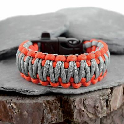 Paracord Survival Bracelet With Fire Steel Whistle Buckle Bear Grylls Inspired