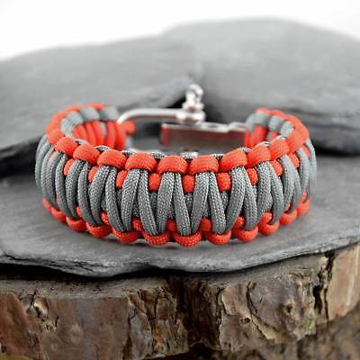 Paracord Survival Bracelet With Adjustable Shackes Inspired by Bear Grylls
