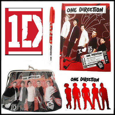 One Direction Followers Deluxe Agenda Diary With Gel Pen Kisslock Purse Clutch