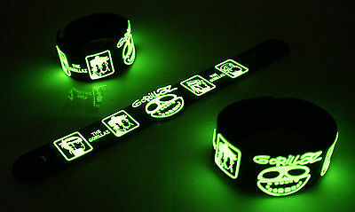 Gorillaz NEW! Glow in the Dark Rubber Bracelet Wristband feel good inc vg263