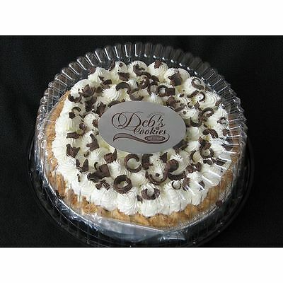 """Cake Tray, Carrier, Server Display Container Plastic Clear 5pcs 10"""" White board"""
