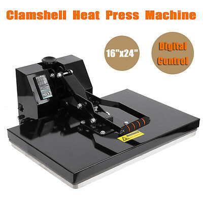 "16"" x 24"" Clamshell T-Shirt Heat Transfer Press Sublimation Machine Printer"