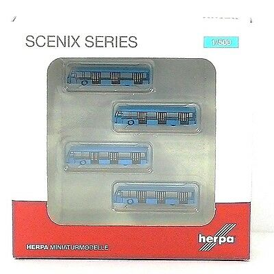 Herpa Wings Amsterdam airport bus set (four pcs.) 1:500 (521017)