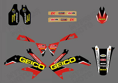 Team Graphics Decals Stickers For Honda Crf450R Crf450 2007 D1