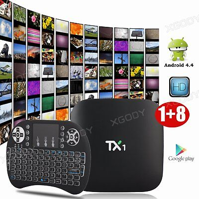 New KODI 16.1 Quad Core Smart TV BOX TX1 Android Fully Loaded Free Sports Movies