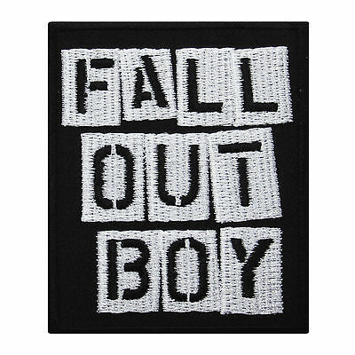 FALL OUT BOY Punk Rock Music Band Embroidered Iron On Patch Heavy Metal Patrick