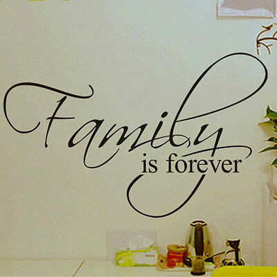 Family is Forever Removable Art Vinyl Wall Stickers Decal Mural Home Decor