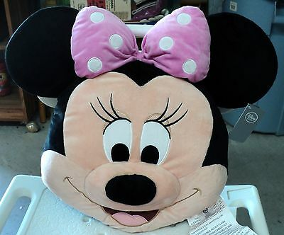 Minnie Mouse Head Pillow  Huge 18 X 18 Poly Blend New From Disney Store