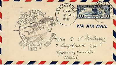 Etats Unis USA 1ers vols first flights airmail 18