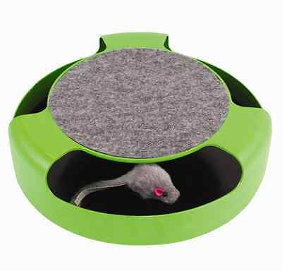 Cat Kitten Catch The Mouse Plush Moving Toy Scratching Claw Care Mat Play Toy UK • EUR 6,49
