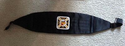 Knights Templar Cummerbund with Embroidered Patch