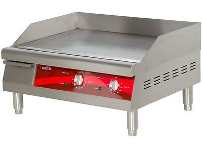 Countertop Electric Griddle 24 inch Restaurant Kitchen Commercial Flat Top Grill